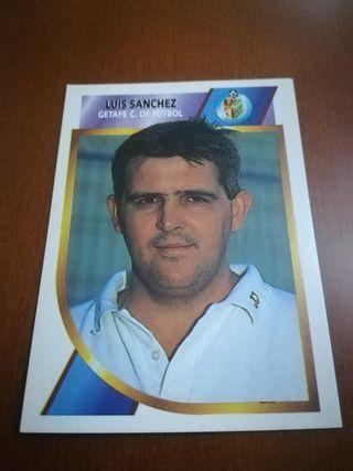 Cromo Luis Sánchez Getafe 2a división 94 95 este
