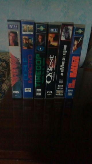 vendo películas de van Damme vhs