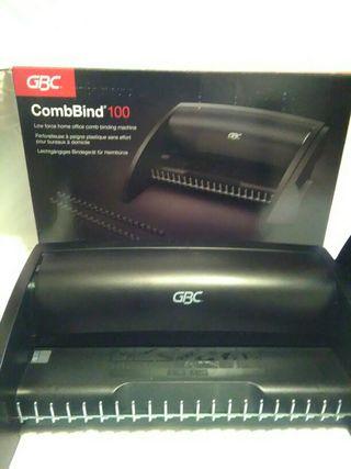 Encuadernadora canutillo. GBC CombBind 100