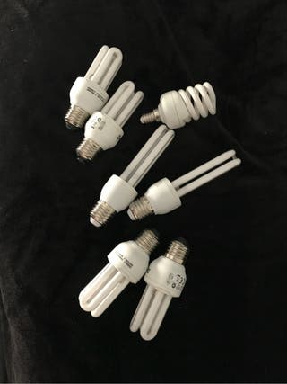 Lote 7 bombillas bajo consumo