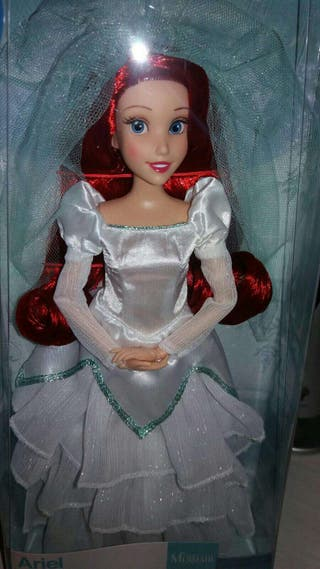 Disney muñeca ariel (sirenita) de boda. Novia