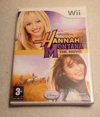 Juego Wii. Hannah Montana