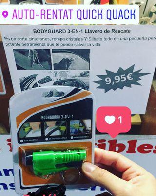 BodyGuard- Llavero de rescate 3 en 1