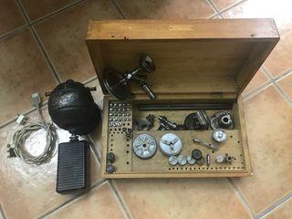 Torno Lorch 6 mm con accesorios