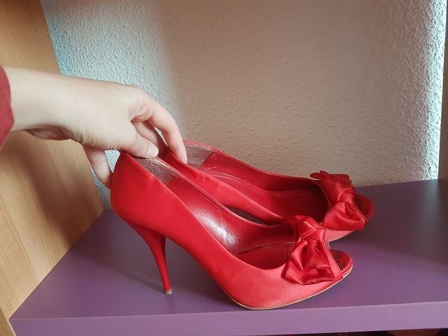 zapatos rojos de Zara. Talla 39