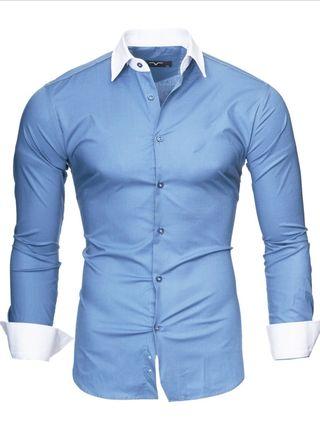 Camisa hombre Slim Fit, 4 colores disponibles.