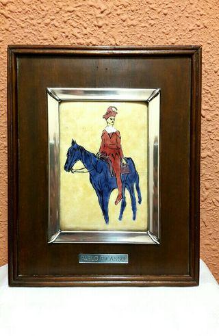 Cuadro de Esmalte Arlequin a Caballo Pablo Picasso
