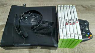 X Box 360+2mandos+6 juegos+micro