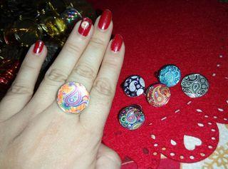 anillo mandala ajustable