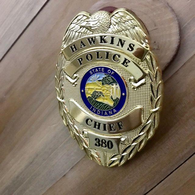 Jim Hopper Replica Chapa Policía Stranger Things