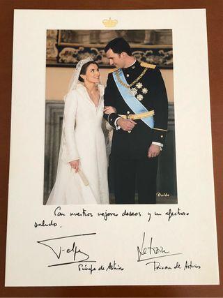 Obsequio boda real príncipes