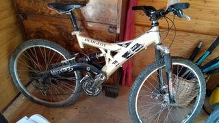 Bicicleta montaña, descenso, para reparar