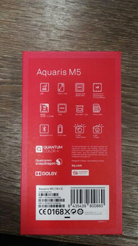 movil BQ Aquaris M5