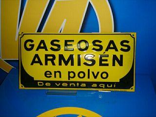 Cartel decoración GASEOSAS ARMISEN descatalogado