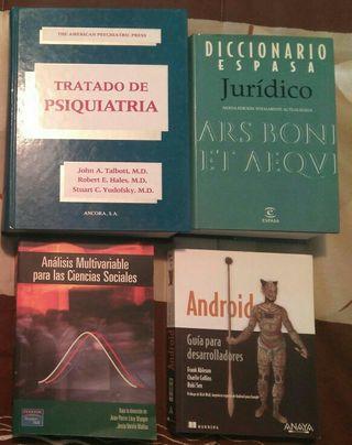LIBROS PSIQUIATRIA, ECONOMIA, DERECHO, PROGRAMACIO