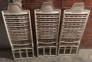 Lote de tres sillas