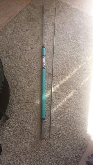 Caña de pescar maciza antigua 3 metros