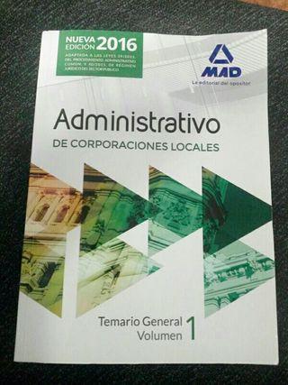 libro oposiciones administrativo