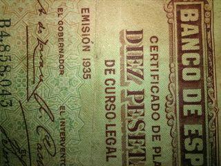antiguo billete