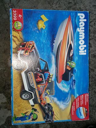 Kit Playmobil con lancha motorizada