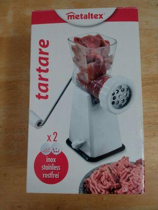 Picadora carne/ forma pasta. Nueva.