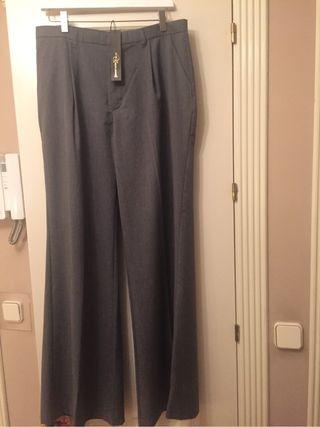 Pantalon nuevo gris mujer