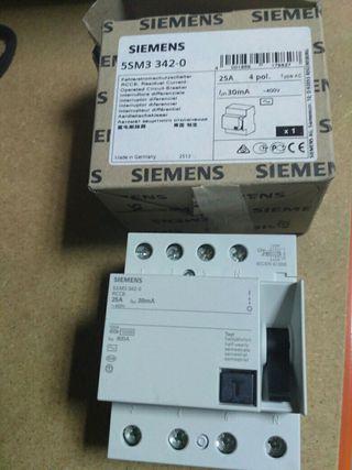Diferencial Siemens 25A, Tetrapolar.