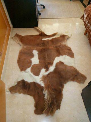 Alfombra piel y pelo de vaca 100% natural