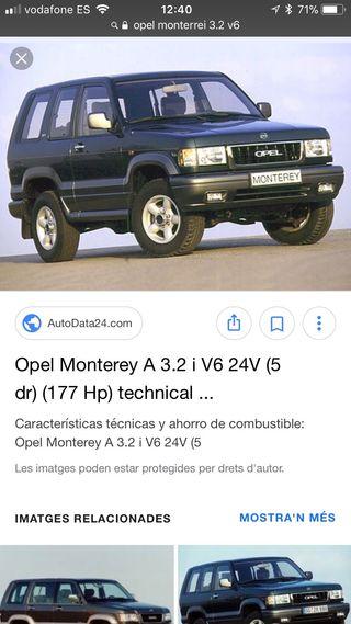 DespieceOpel monterey 3.2 V6 gasolina