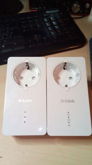 D-link P600AV extensor ethernet internet enchufe