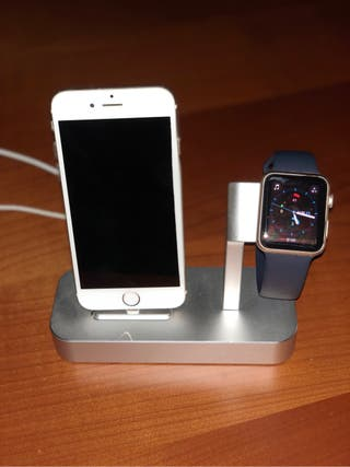 Estacion carga iphone/appel watch