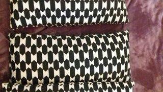 3 cojines blanco negro Ikea