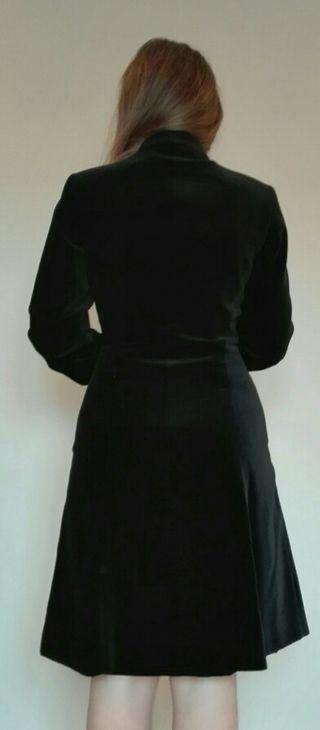 Abrigo mujer zara negro