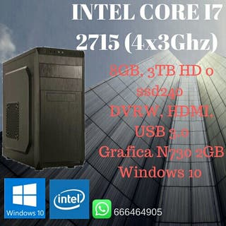 Ordenador PC Intel i7 8GB RAM 3TB HD 730 GB