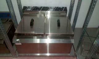 freidora electrica industrial 12+12l aceite.5+5kw