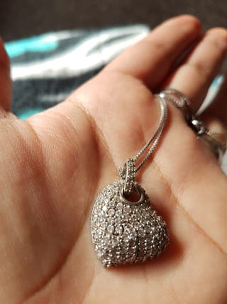 colgante plata corazon
