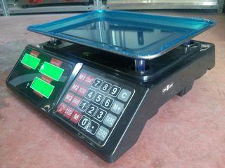 balanza bascula digital negra 40kg nueva