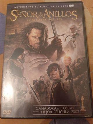 Dvd El Señor De Los Anillos- El retorno del Rey