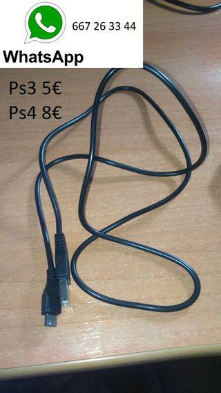 CABLES CARGA MANDO PS3 Y PS4