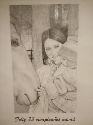 Retratos y dibujos a lápiz/carboncillo