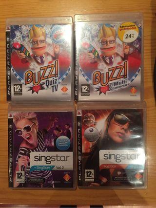 Buzz y singstar games