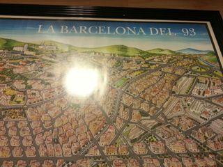 cuadro - lámina La Barcelona del año 1993