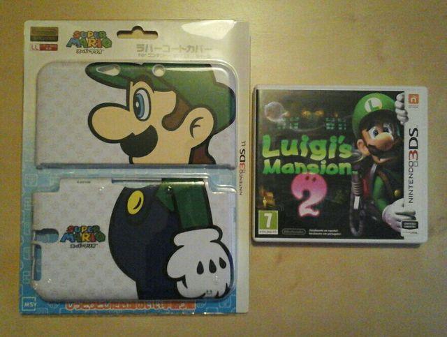 Luigi's Mansion 2 + Carcasa Luigi Nintendo 3DS xl