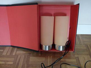 juego de lamparas de mesa