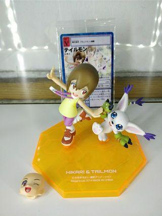 Figura digimon Kari y Gatomon Original g.e.m