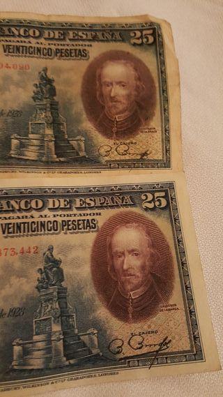 bilette 25 pesetas