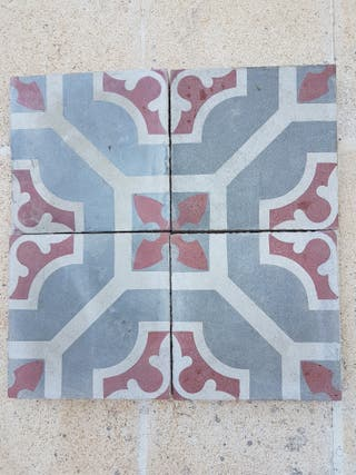 azulejos de suelo hidraulico. 8 m2 en 3 diseños.