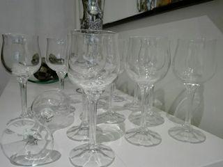 12 copas de vino 6 copas de agua
