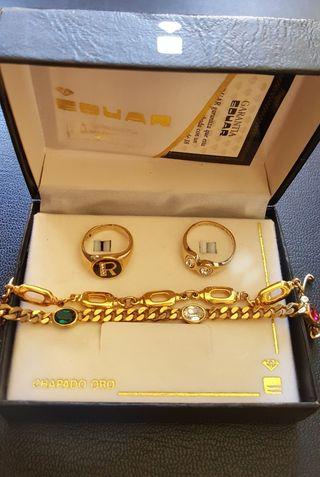 9f10e7499c2e Conjunto joyas oro de segunda mano por 39 € en Barcelona en WALLAPOP
