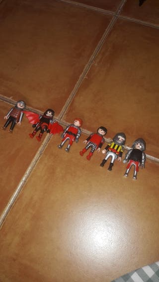 pack figuritas playmobil caballeros